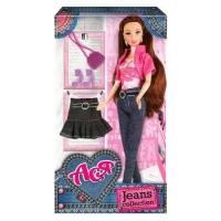 """Кукла Ася с аксессуарами """"Jeans Collection"""" (брюнетка) JIADIHONG. 38413"""