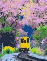 "Картина по номерам ""Яркий поезд"" JIADIHONG. 35355"