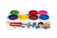 "Набор теста для лепки ""Heroes"" 8 цветов E Play Toys. 39384"
