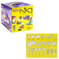 """Пластиковый конструктор """"NIK-3"""", 128 деталей Юника. 36645"""