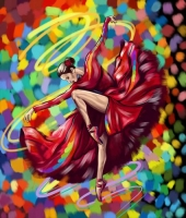 "Картина по номерам ""Яркий танец"" укр Dankotoys. 35358"