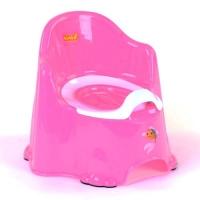 Горшок со спинкой и крышкой Bimbo, светло-розовый JIADIHONG. 40117