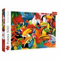 """Пазлы """"Цветные птички"""", 500 элементов Trefl. 39270"""