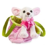 """Мягкая игрушка """"Чихуахуа"""" розовый TIGRES. 38634"""