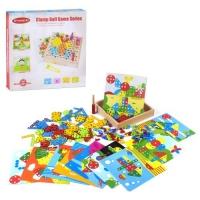 """Деревянная игра """"Мозаика"""", с болтиками ViVi Wood Toy. 39469"""