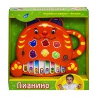 Электронная развивающая игрушка Пианино.Тигренок оранжевый JIADIHONG. 38857
