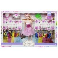 Кукла с гардеробом (в розовом платье) JIADIHONG. 38433