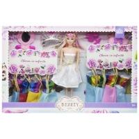 Кукла с гардеробом (в белом платье) JIADIHONG. 38432