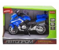 Мотоцикл пластиковый, синий JIADIHONG. 37389