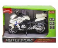 Мотоцикл пластиковый, белый JIADIHONG. 37388