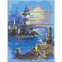 """Картина по номерам на дереве """"Свет маяка"""" Art Story. 35380"""