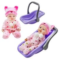 """Кукла """"Пупс с переноской"""", фиолетовый JIADIHONG. 38723"""