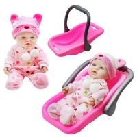 """Кукла """"Пупс с переноской"""", розовый JIADIHONG. 38722"""