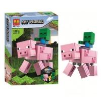 """Конструктор """"My World Minecraft: Свинья и малыш-зомби"""", 159 дет Lari. 36676"""