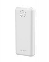 "Power Bank ""G79"" 10000 mAh, белый Golf. 36022"