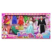 """Кукольный набор """"Pretty girl"""" в голубом JIADIHONG. 38470"""