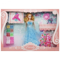"""Набор с куклой """"Lovely"""", в голубом JIADIHONG. 38481"""
