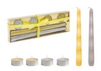 Подарочный набор свечей, серебристый JIADIHONG. 40337