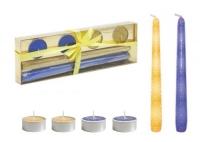 Подарочный набор свечей, синий JIADIHONG. 40338