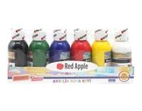 Краски акриловые, 6 цветов Red Apple. 35400