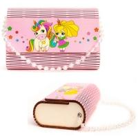 "Деревянная сумочка ""Принцесса и единорог"", розовая Tatev. 35977"