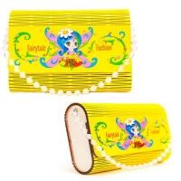 """Деревянная сумочка """"Фея"""", жёлтая Tatev. 35978"""