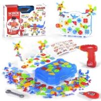 Мозаика-конструктор 3D с набором инструментов, 300+ деталей BOHUI. 39488