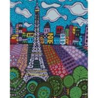 "Алмазная мозаика ""Облака в Париже"" АМ Идейка. 39457"