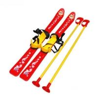 Лыжи с палками, детские, красные Технок. 36113