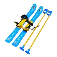 Лыжи с палками, детские, голубые Технок. 36112