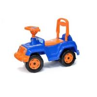 Машинка каталка 4 х 4 (сине-оранжевая) Орион. 40289
