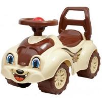 Машинка-каталка для прогулок (коричневая) Технок. 40299