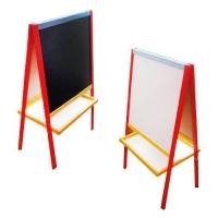 Мольберт двухсторонний 60 х 60 см (цветной) ЗІРКА. 36237