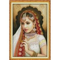 """Вышивка крестиком по номерам """"Индийская красавица 2"""" Идейка. 39699"""
