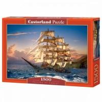 """Пазлы """"Корабль на закате солнца"""", 1500 эл Castorland. 39279"""