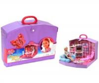 """Кукольный домик в чемоданчике """"Family Room"""" JIADIHONG. 37558"""