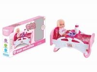 """Пупс с кроваткой и набором аксессуаров """"Baby Bed"""" JIADIHONG. 38790"""