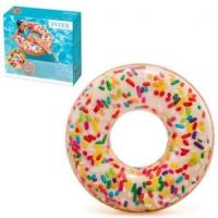 """Круг надувной """"Пончик с присыпкой"""" (114 см) Intex. 36038"""