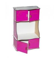 Деревянный буфет (бело-розовый) BigEcoToys. 37540