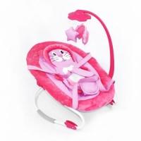 Детский шезлонг-качалка (розовый) JIADIHONG. 40077