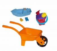 Тачка с лодочкой и песочным набором (оранжевая) Kinderway. 36706