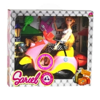 """Кукла на жёлтом мопеде """"Sariel"""" JIADIHONG. 38423"""