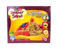 """Кинетический песок """"Super Sand"""" с песочницей Play-Toys. 39432"""