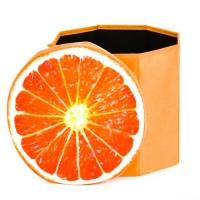 """Корзина-пуфик для игрушек """"Апельсин"""" JIADIHONG. 36248"""
