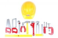 """Набор инструментов """"Tools Set"""" (11 инструментов и каска) Технок. 37928"""