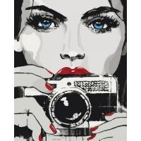 """Картина по номерам """"Яркий взгляд"""" Идейка. 35353"""