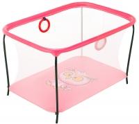 Манеж Qvatro LUX-02 мелкая сетка  розовый (owl). 34228