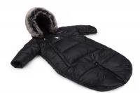 Зимний детский комбинезон - трансформер Cottonmoose Moose 0-6 M 767/65 black (черный). 31301