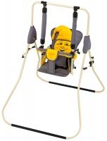 Качель детская домашняя напольная Умка Casper  серый-желтый. 30988