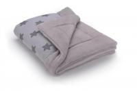 Теплый плед Cottonmoose KO 743/28/72 gray star cotton jersey (светло-серый (звезды)). 34867